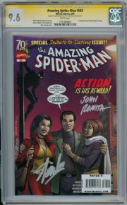 Amazing Spider-man #583 First Print CGC 9.6 Signature Series Signed Stan Lee & John Romita Sr Marvel comic book